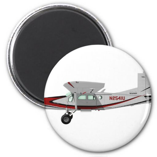 Portero de Pilatus PC-6 Turbo Imán Redondo 5 Cm
