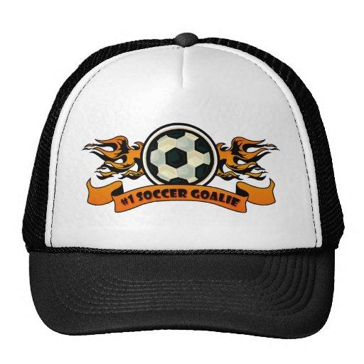 Portero del fútbol #1 gorros bordados