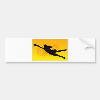 Portero del fútbol pegatina de parachoque