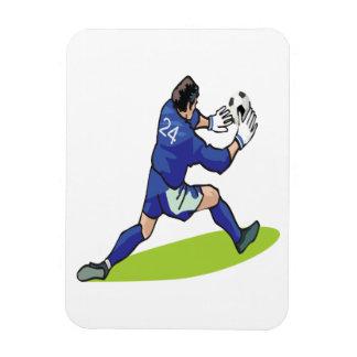 Portero del fútbol iman flexible