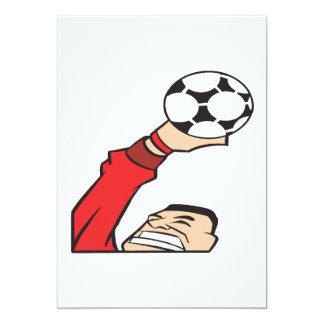 """Portero del fútbol invitación 5"""" x 7"""""""