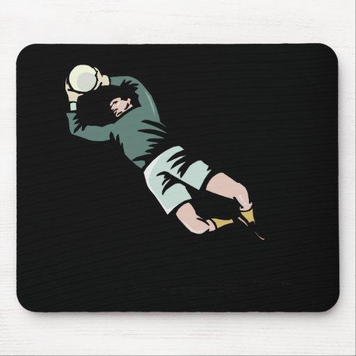 Portero del fútbol tapete de ratón