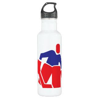 Portero del hockey botella de agua