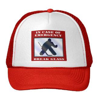 Portero del hockey de la emergencia gorras de camionero