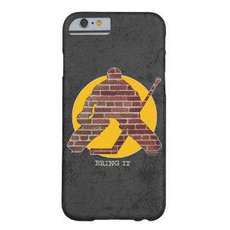 Portero del hockey de la pared de ladrillo funda barely there iPhone 6