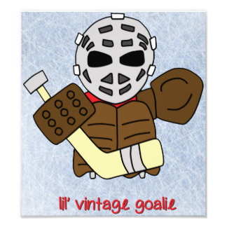 Portero del hockey del vintage de Lil Cojinete