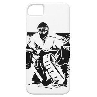Portero del hockey funda para iPhone 5 barely there