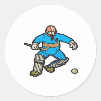 Portero del hockey hierba etiquetas