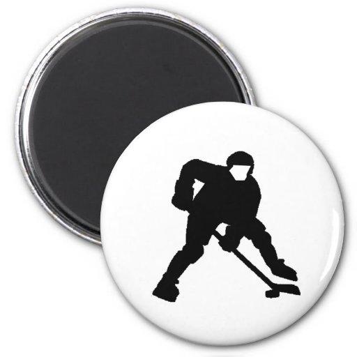 Portero del hockey imanes de nevera
