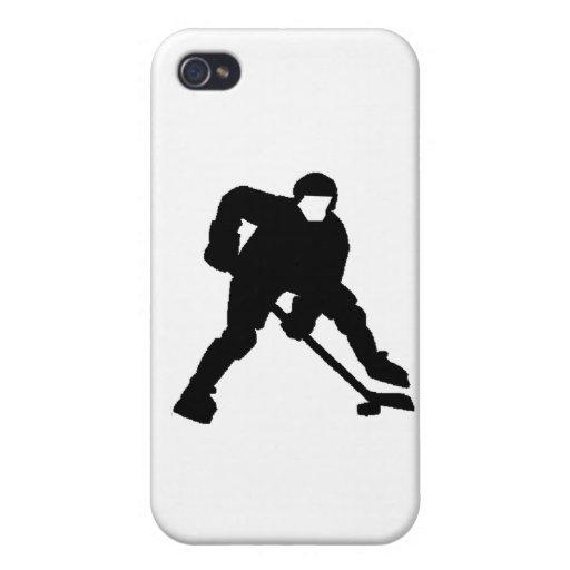 Portero del hockey iPhone 4 fundas