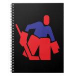 Portero del hockey libro de apuntes