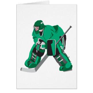 portero del hockey listo felicitaciones