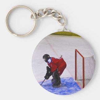 portero del hockey llavero personalizado