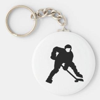 Portero del hockey llaveros
