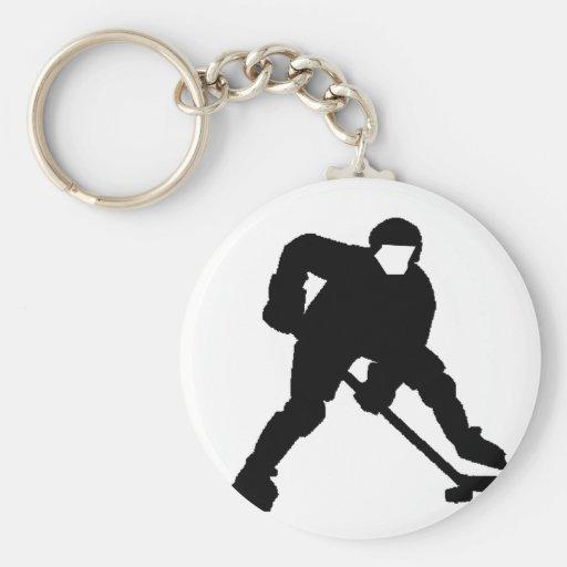 Portero del hockey llaveros personalizados