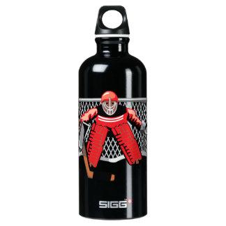Portero del hockey sobre hielo botella de agua