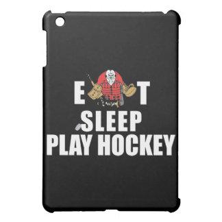 Portero divertido del hockey de Eat Sleep Play