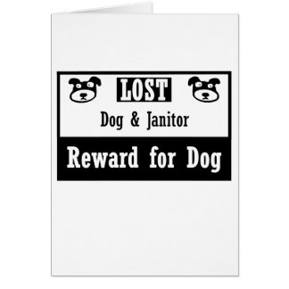 Portero perdido del perro tarjeta pequeña