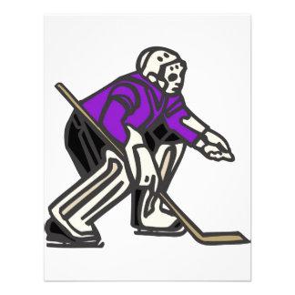 Portero púrpura del hockey invitación
