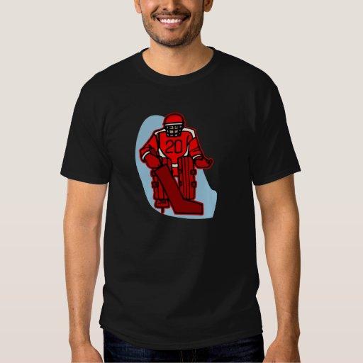 Portero rojo camisas