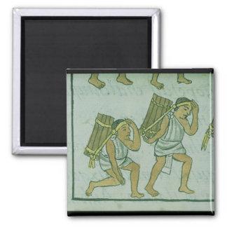 Porteros aztecas, del 'Codex florentino Imán Cuadrado