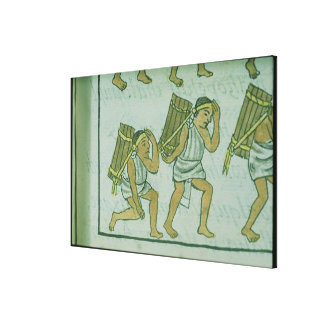 Porteros aztecas, del 'Codex florentino Impresiones De Lienzo