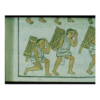 Porteros aztecas, del 'Codex florentino Postal