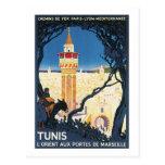 Portes aux. de Marsielle de Túnez L'Orient Tarjeta Postal