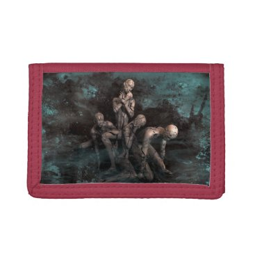 Halloween Themed PORTFOLIO ART HALOWEEEN TRI-FOLD WALLET
