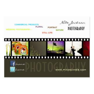 Portfolio business cards photos template