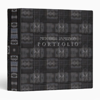 Portfolio Dark Industrial Tartan Album / Binder