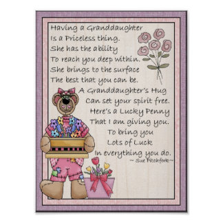 Portfolio-Granddaughter-Lucky Penny-Glue On Penny Poster