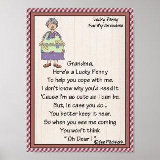 Portfolio-Grandma-Lucky Penny-Glue Penny On Poster