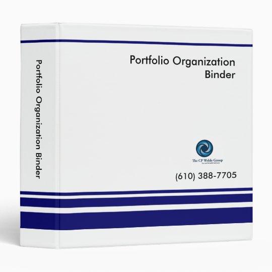 """Portfolio Organization Binder 1.5"""" -CP Welde Group"""