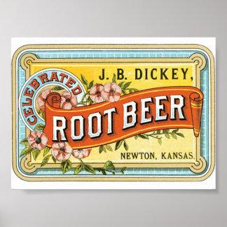 Portfolio Print with Vintage Root Beer Design