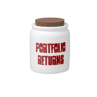 Portfolio Returns Spare Change Bank Candy Dish