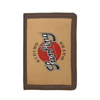 portfolio surfing riding waves trifold wallets