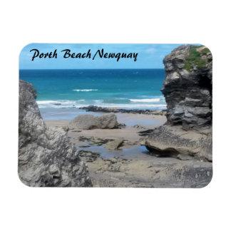 Porth Beach Newquay Cornwall Photograph Magnet