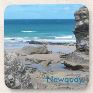 Porth Beach Newquay Corwall England Drink Coaster