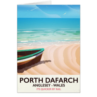 Porth Dafarch, Anglesey Welsh beach poster Card