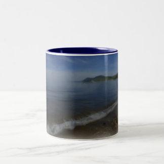 Porth Dinllaen Beach Two-Tone Coffee Mug