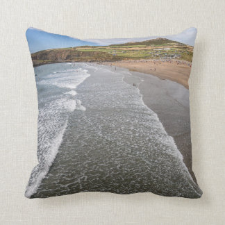 Porth Mawr Whitesands Bay Wales Throw Pillow