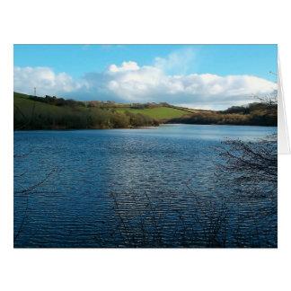 Porth Reservoir Nr Newquay Cornwall England Winter Card