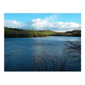 Porth Reservoir Nr Newquay Cornwall England Winter Postcard