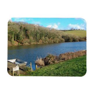 Porth Reservoir Nr Newquay Cornwall England Winter Vinyl Magnets