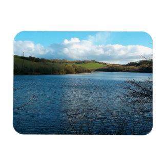 Porth Reservoir Nr Newquay Cornwall England Winter Flexible Magnet