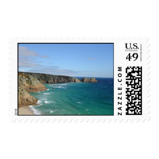 Porthcurno Bay and Logan Rock Headland - Postage