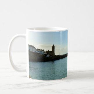 Porthleven Cornwall England Harbour Wall Classic White Coffee Mug