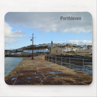 Porthleven Cornwall England in Winter Mouse Pad