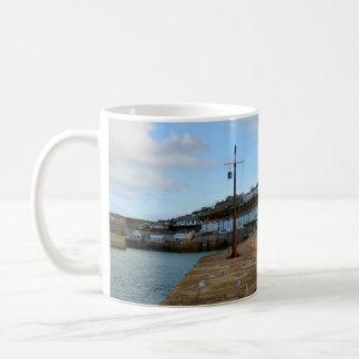 Porthleven Cornwall England in Winter Classic White Coffee Mug
